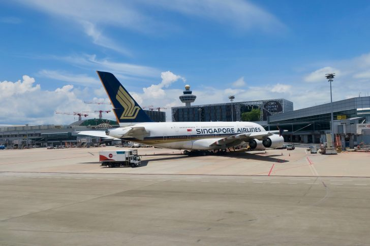 Singapore Airlines Aircraft Parked at Gate