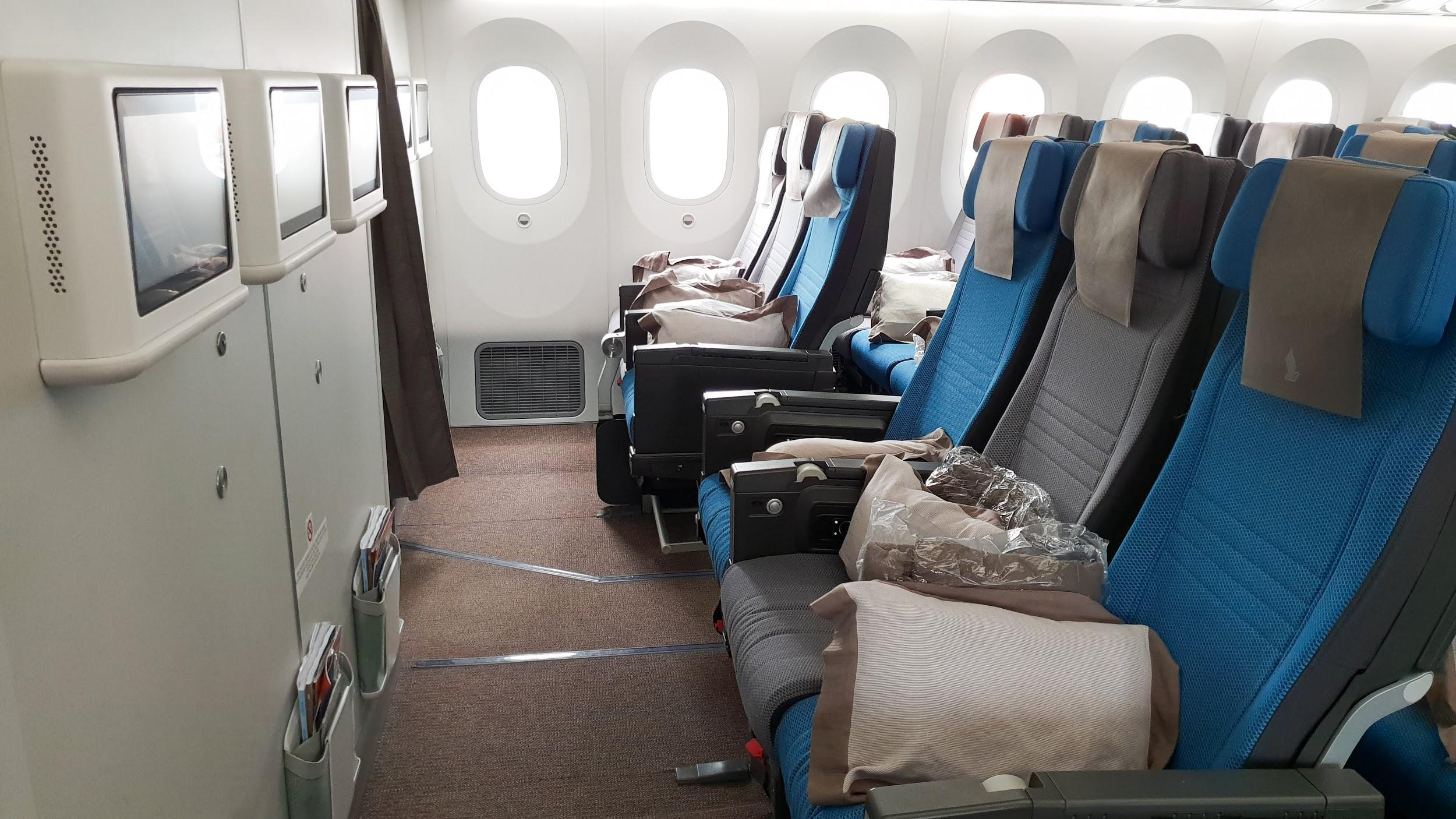 Singapore Airlines A350-787 Economy Class